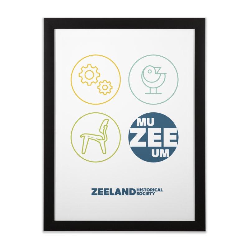 MU-ZEE-UM circles Home Framed Fine Art Print by Zeeland Historical Society's Online Store