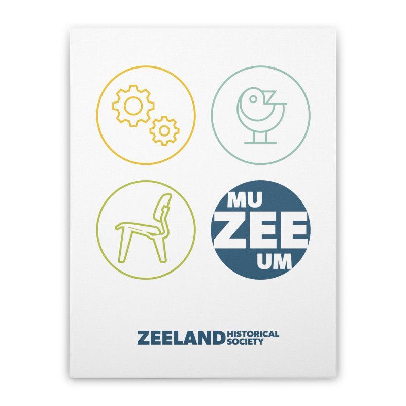 MU-ZEE-UM circles Home Stretched Canvas by Zeeland Historical Society's Online Store