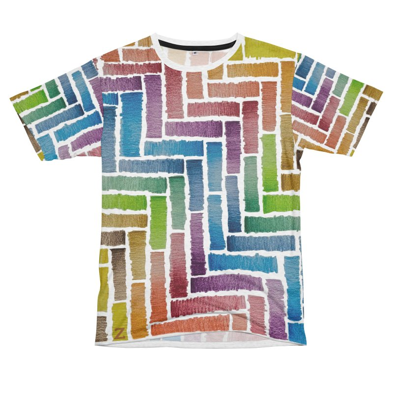 Rainbow Bricks Men's Cut & Sew by Zia Foley's Artist Shop