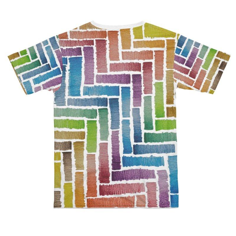 Rainbow Bricks Women's Cut & Sew by Zia Foley's Artist Shop
