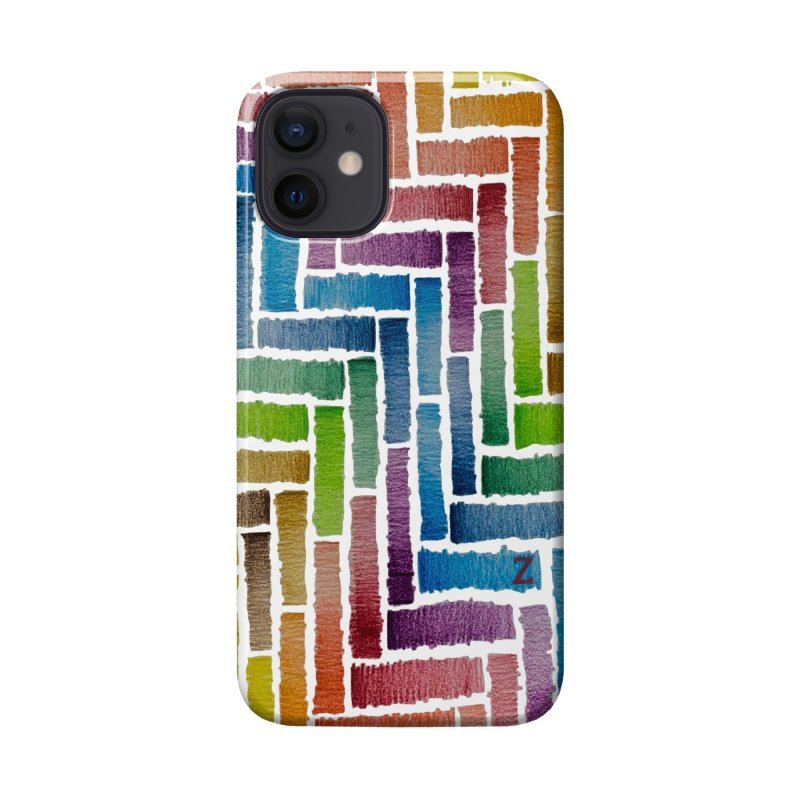 Rainbow Bricks Accessories Phone Case by Zia Foley's Artist Shop