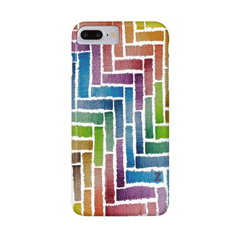 Rainbow Bricks Accessories Phone Case by Zia Foley's Artist Shop