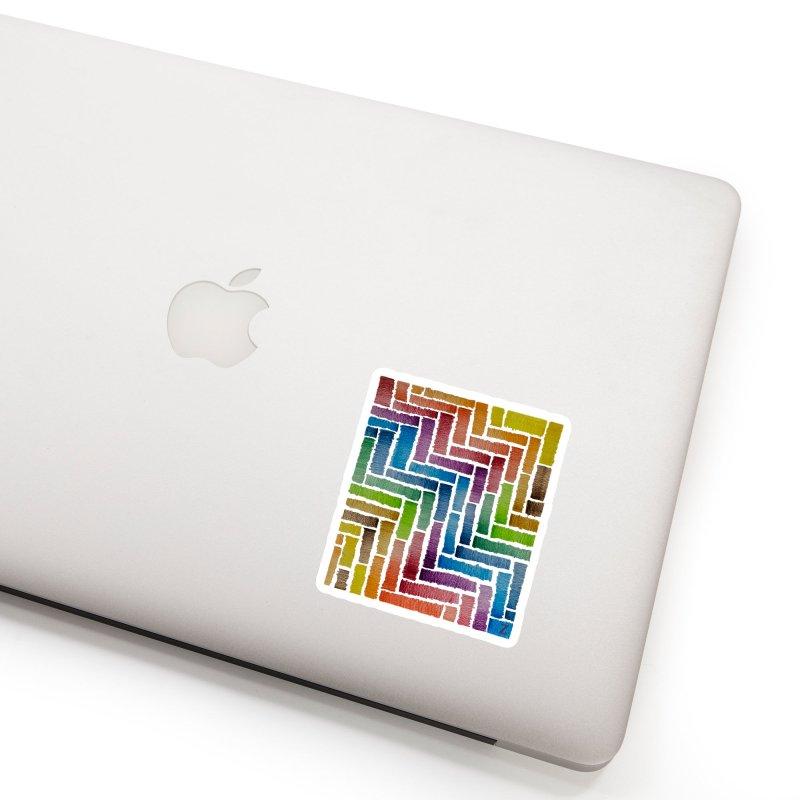 Rainbow Bricks Accessories Sticker by Zia Foley's Artist Shop