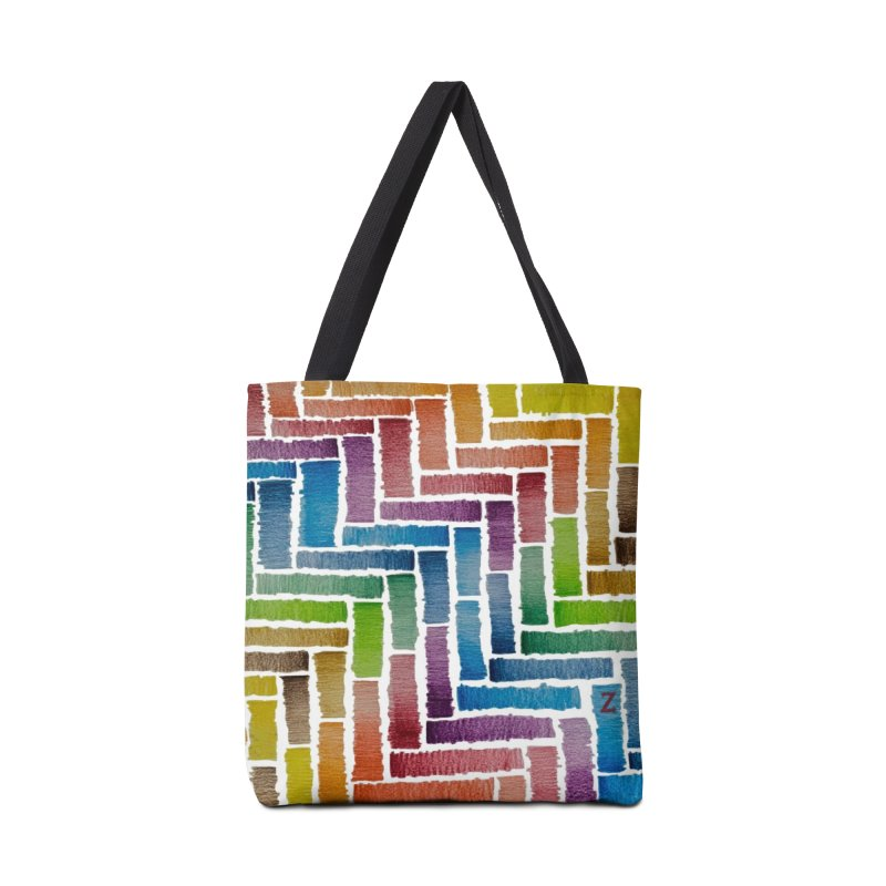 Rainbow Bricks Accessories Bag by Zia Foley's Artist Shop