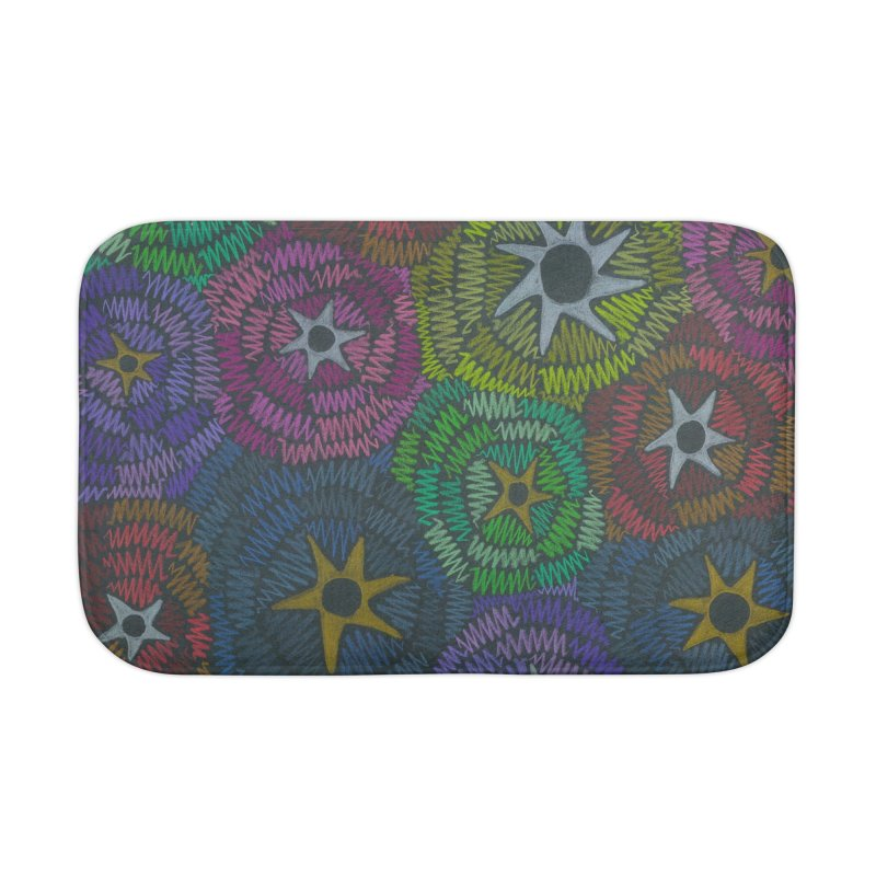 Fabric of the Stars Home Bath Mat by Zia Foley's Artist Shop