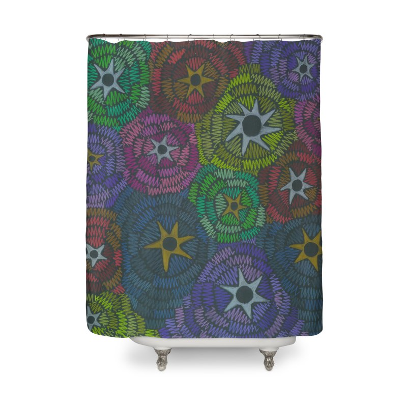 Fabric of the Stars Home Shower Curtain by Zia Foley's Artist Shop