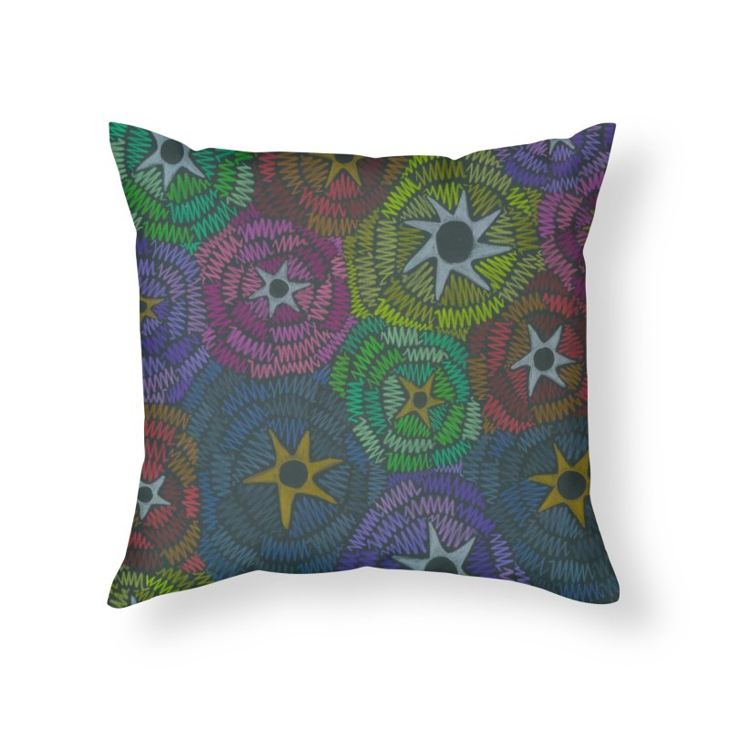 Fabric of the Stars Home Throw Pillow by Zia Foley's Artist Shop