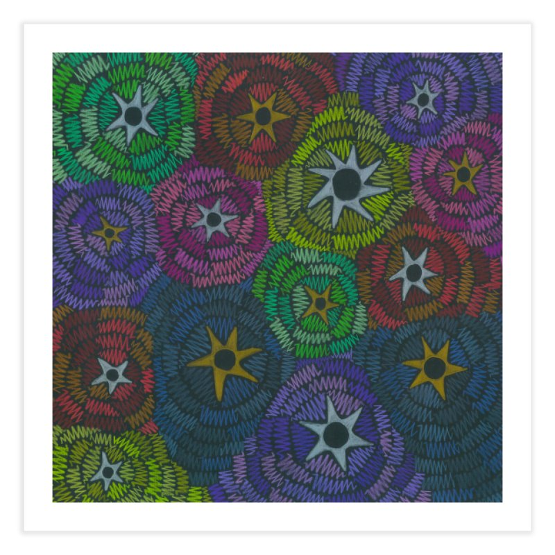 Fabric of the Stars Home Fine Art Print by Zia Foley's Artist Shop