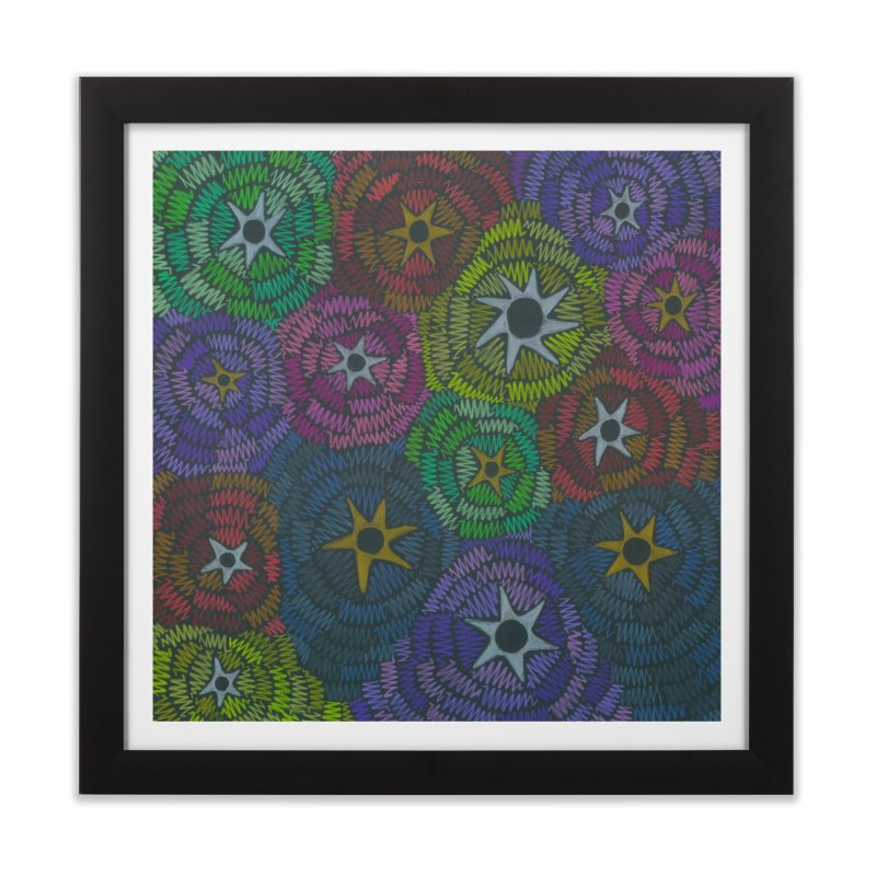 Fabric of the Stars Home Framed Fine Art Print by Zia Foley's Artist Shop