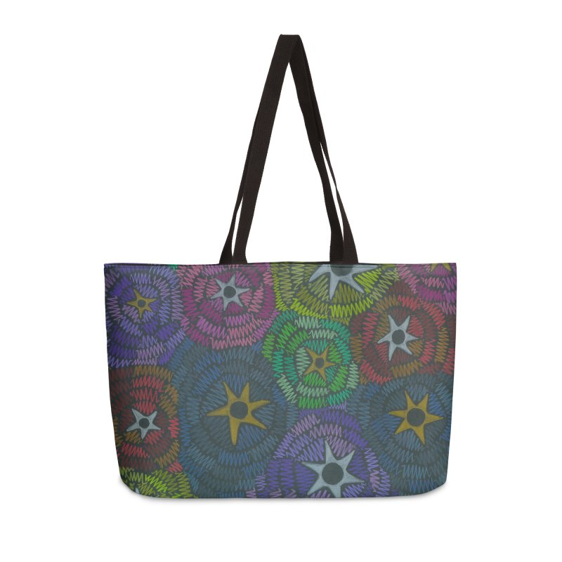 Fabric of the Stars Accessories Bag by Zia Foley's Artist Shop