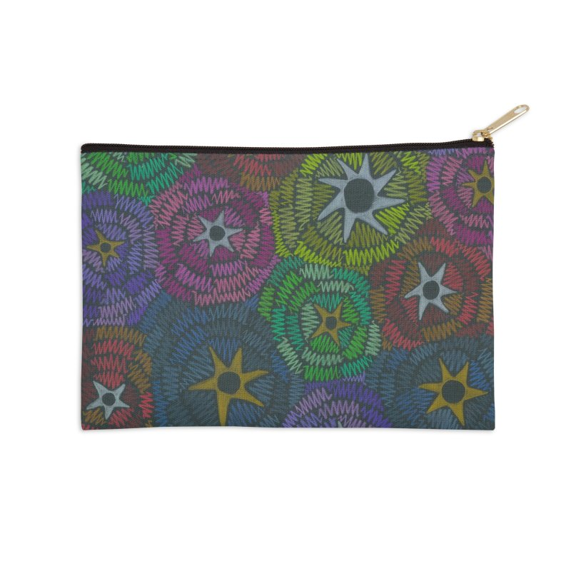 Fabric of the Stars Accessories Zip Pouch by Zia Foley's Artist Shop