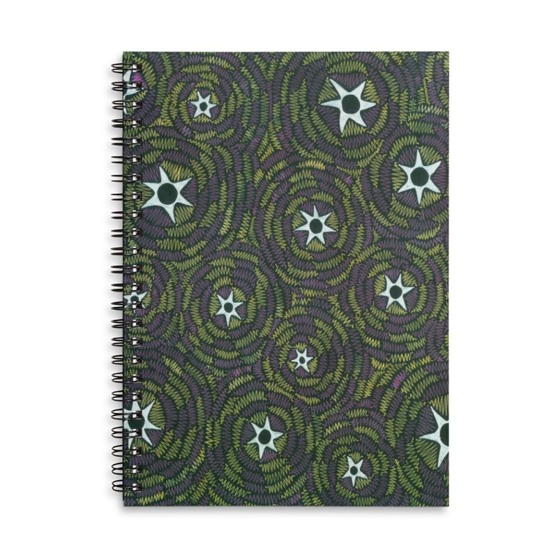 Black Hole Starry Night Accessories Notebook by Zia Foley's Artist Shop