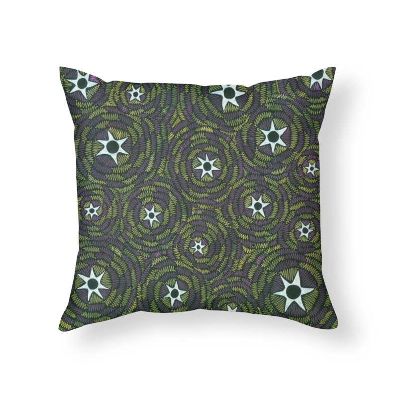 Black Hole Starry Night Home Throw Pillow by Zia Foley's Artist Shop