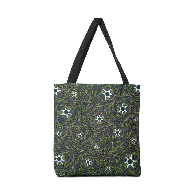 Black Hole Starry Night Accessories Bag by Zia Foley's Artist Shop