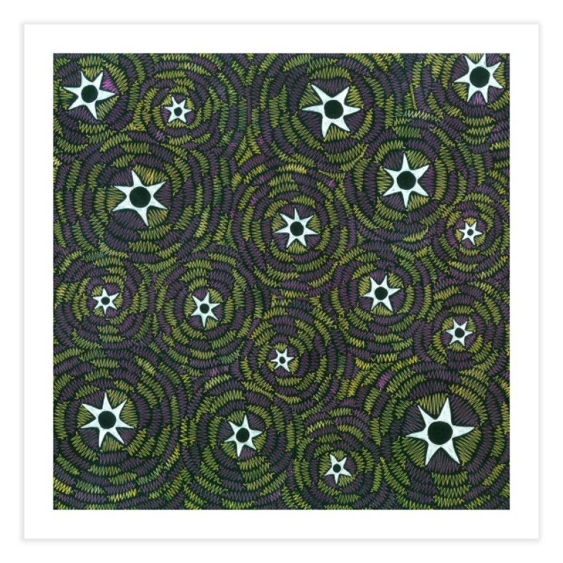 Black Hole Starry Night Home Fine Art Print by Zia Foley's Artist Shop
