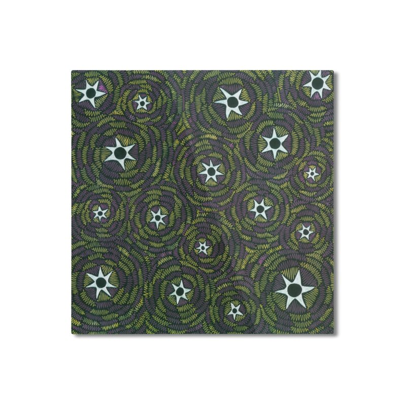 Black Hole Starry Night Home Mounted Aluminum Print by Zia Foley's Artist Shop