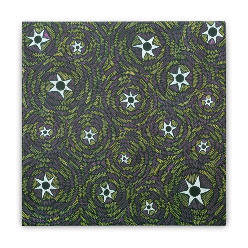 Black Hole Starry Night Home Stretched Canvas by Zia Foley's Artist Shop