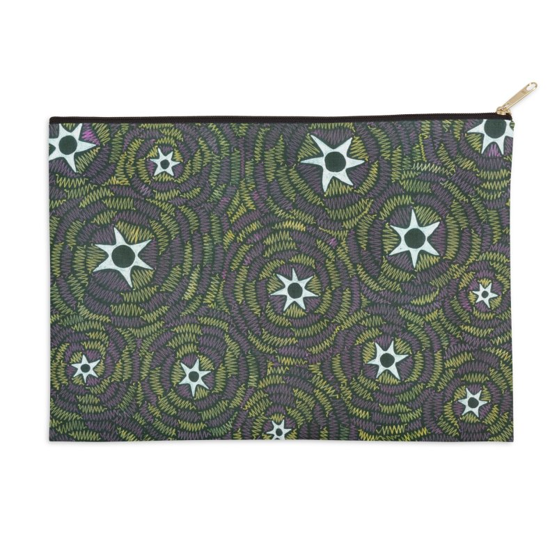 Black Hole Starry Night Accessories Zip Pouch by Zia Foley's Artist Shop