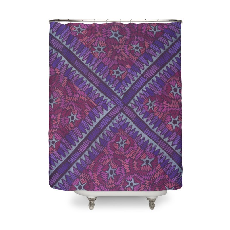 Intersection Home Shower Curtain by Zia Foley's Artist Shop