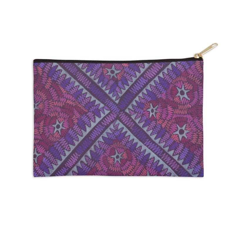 Intersection Accessories Zip Pouch by Zia Foley's Artist Shop