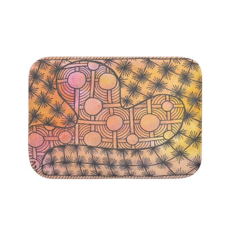 Holy Heart Home Bath Mat by Zia Foley's Artist Shop
