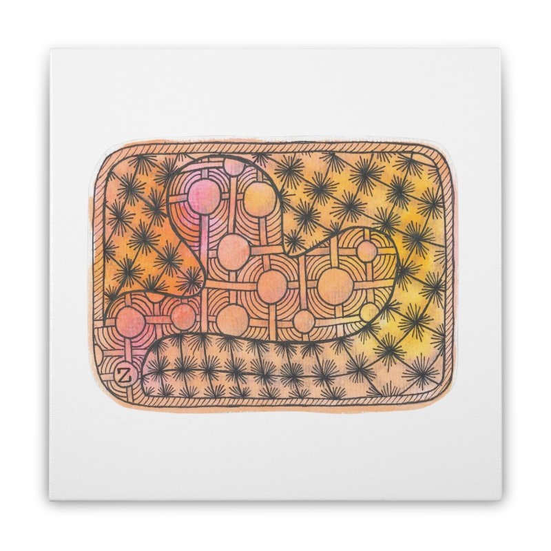 Holy Heart Home Stretched Canvas by Zia Foley's Artist Shop