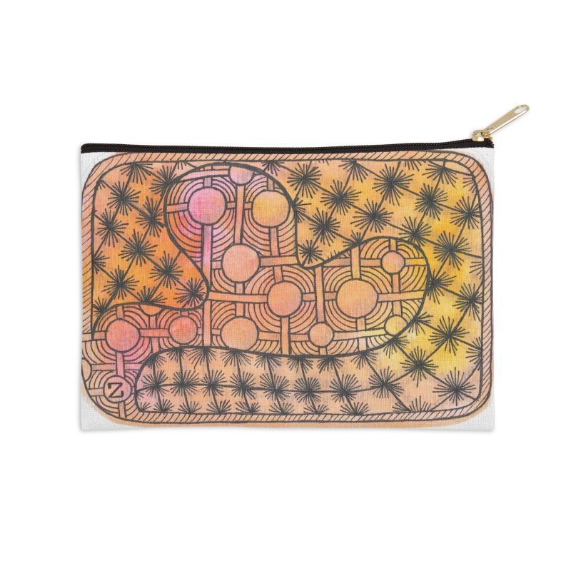 Holy Heart Accessories Zip Pouch by Zia Foley's Artist Shop