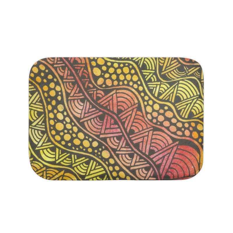 Beneath our Feet Home Bath Mat by Zia Foley's Artist Shop
