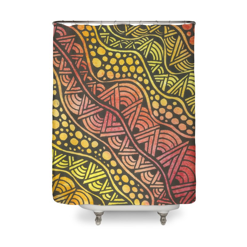 Beneath our Feet Home Shower Curtain by Zia Foley's Artist Shop