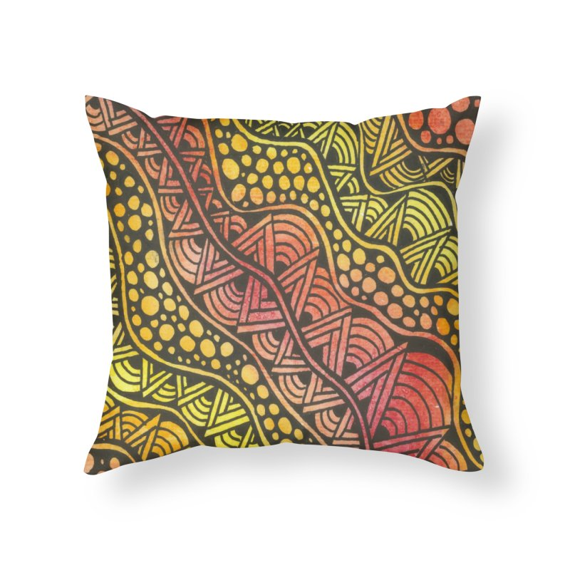 Beneath our Feet Home Throw Pillow by Zia Foley's Artist Shop