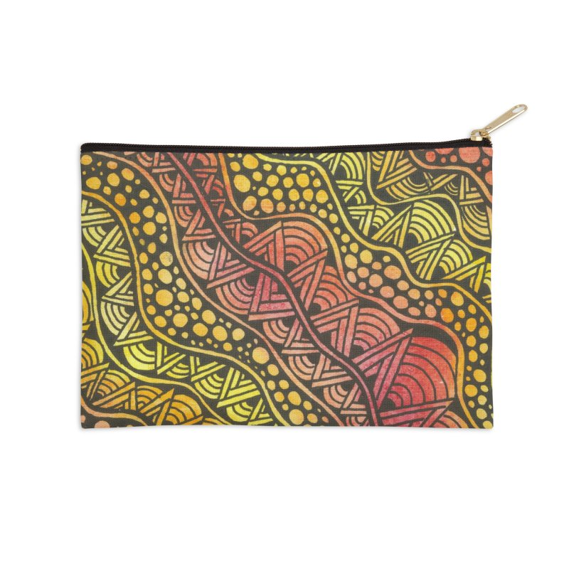 Beneath our Feet Accessories Zip Pouch by Zia Foley's Artist Shop