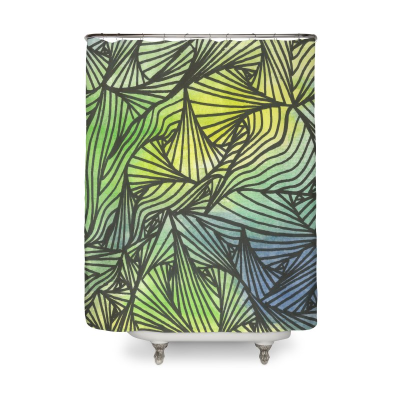 Thorny Waters Home Shower Curtain by Zia Foley's Artist Shop