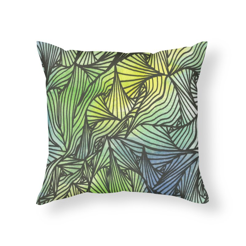 Thorny Waters Home Throw Pillow by Zia Foley's Artist Shop