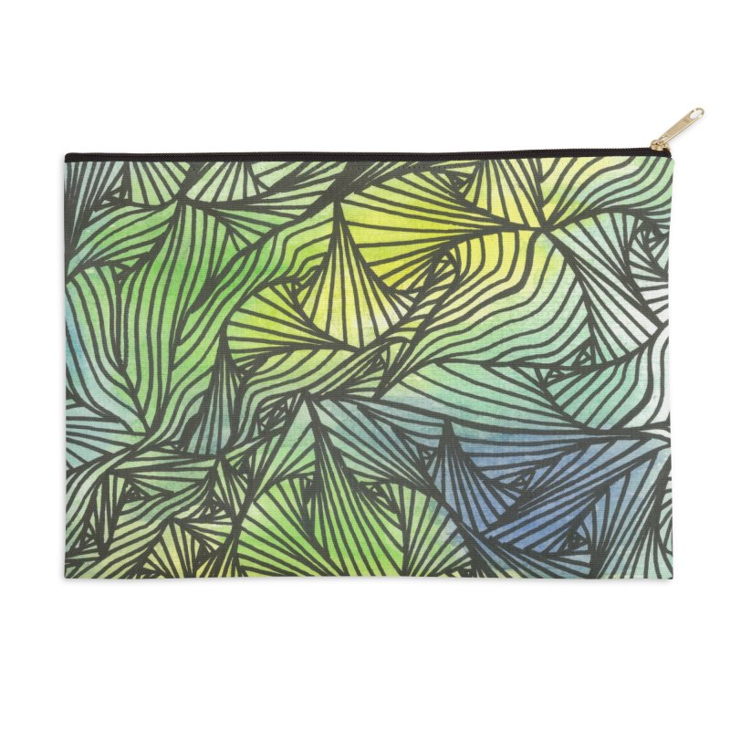 Thorny Waters Accessories Zip Pouch by Zia Foley's Artist Shop