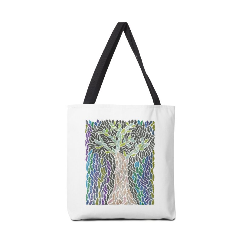 Zhe tree Accessories Bag by Zia Foley's Artist Shop