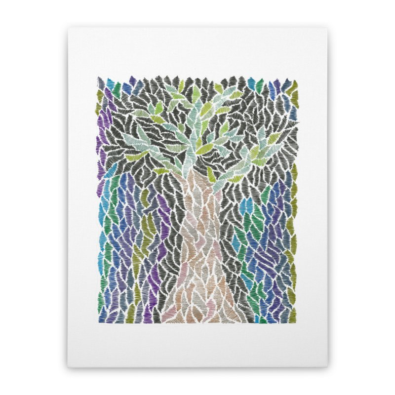 Zhe tree Home Stretched Canvas by Zia Foley's Artist Shop