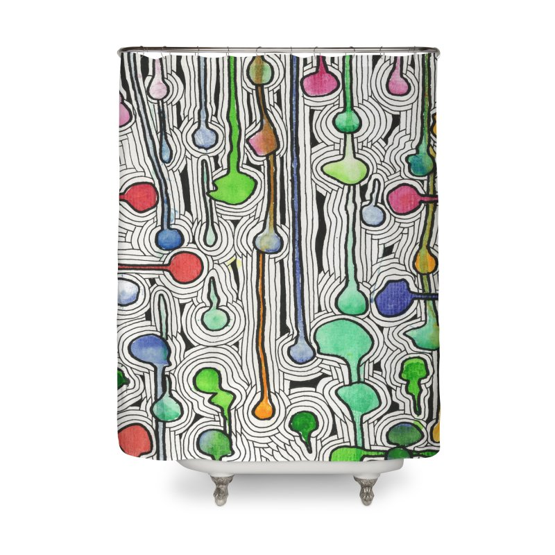 Talking Heads Home Shower Curtain by Zia Foley's Artist Shop