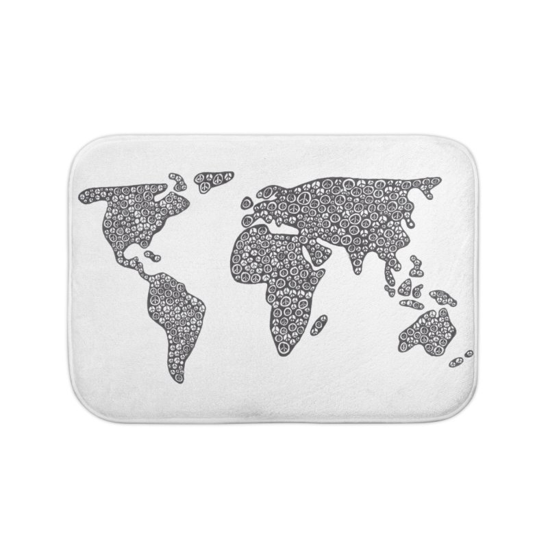 Peace to the World Home Bath Mat by Zia Foley's Artist Shop