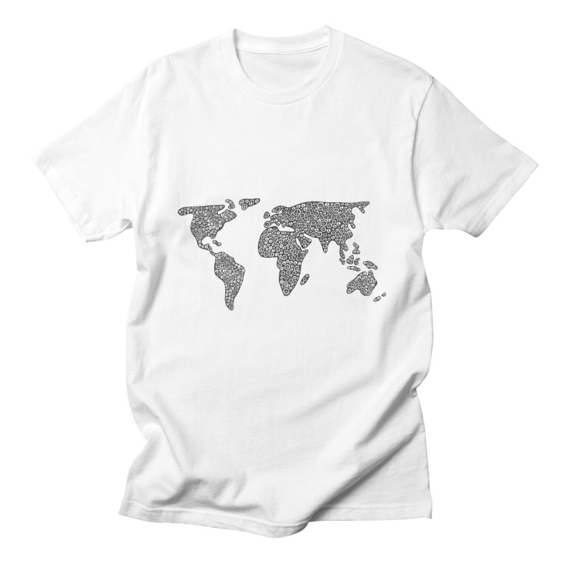 Peace to the World Men's T-Shirt by Zia Foley's Artist Shop