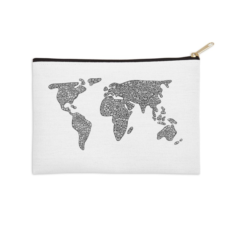 Peace to the World Accessories Zip Pouch by Zia Foley's Artist Shop