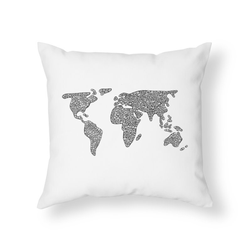 Peace to the World Home Throw Pillow by Zia Foley's Artist Shop