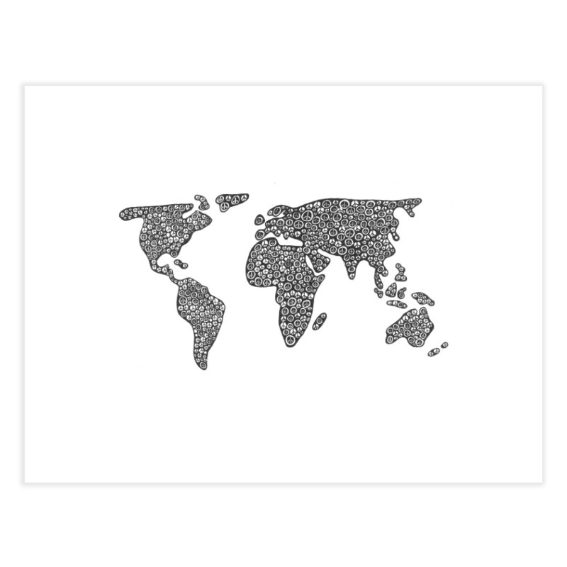 Peace to the World Home Fine Art Print by Zia Foley's Artist Shop