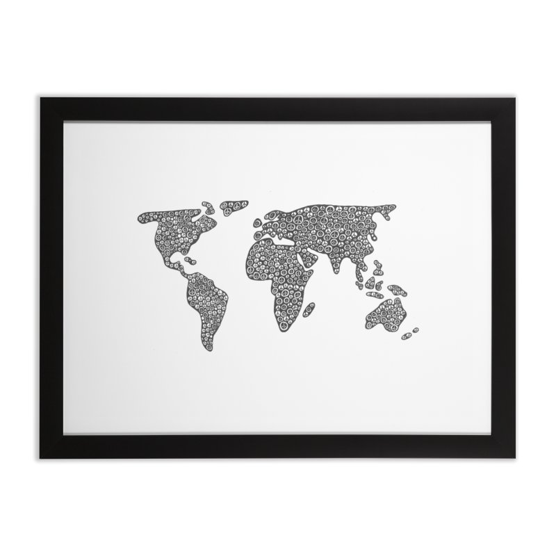 Peace to the World Home Framed Fine Art Print by Zia Foley's Artist Shop