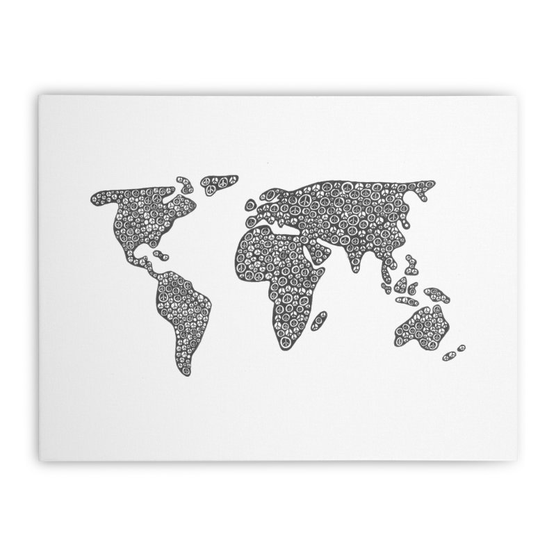 Peace to the World Home Stretched Canvas by Zia Foley's Artist Shop