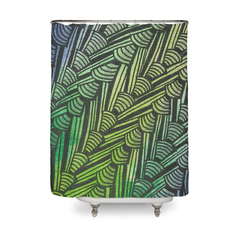 Braided Water Home Shower Curtain by Zia Foley's Artist Shop