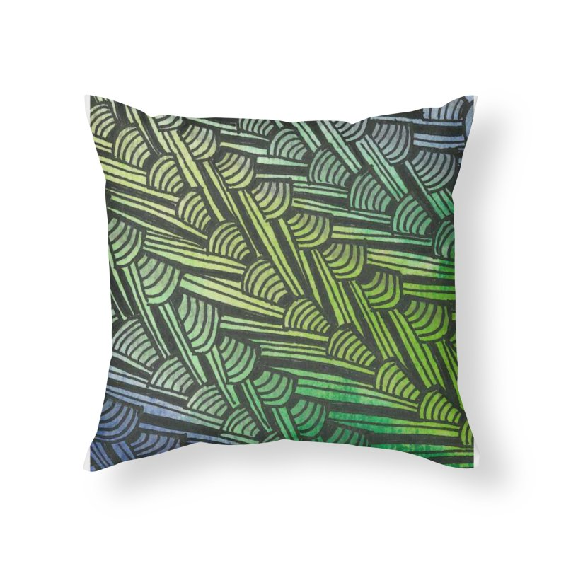 Braided Water Home Throw Pillow by Zia Foley's Artist Shop