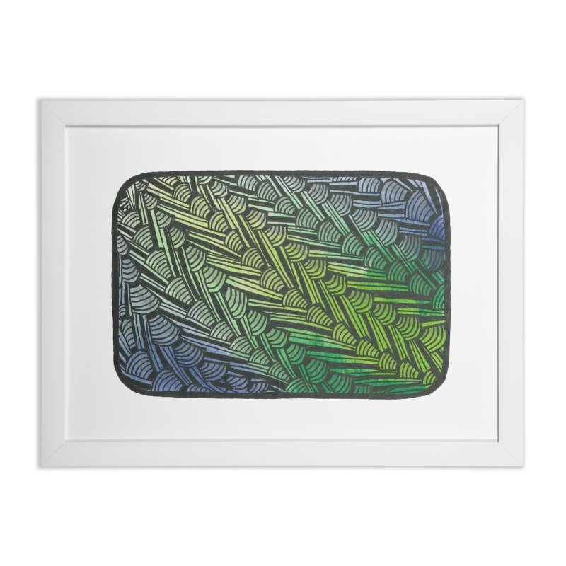 Braided Water Home Framed Fine Art Print by Zia Foley's Artist Shop