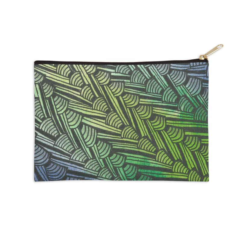 Braided Water Accessories Zip Pouch by Zia Foley's Artist Shop