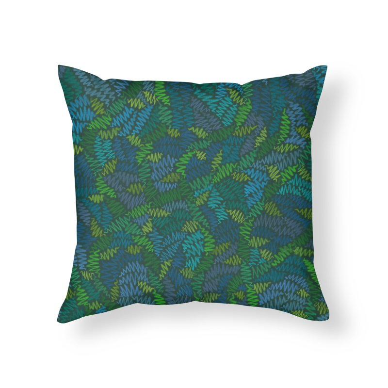 Creeping Vines Home Throw Pillow by Zia Foley's Artist Shop
