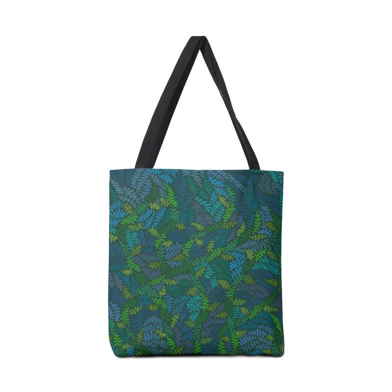 Creeping Vines Accessories Bag by Zia Foley's Artist Shop